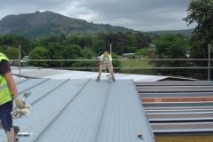 Roof at Bryn-y-Neuadd Hospital, Llanfairfechan