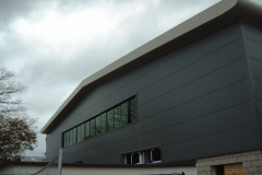 Powder Coated Aluminium Fascia at Coleg Menai