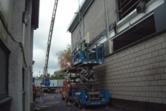 Lifting Panels into Place with Mini-Crane