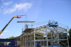 Lifting Roof Panel into Place