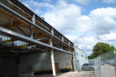 Steelwork at Peoples Ford