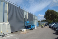 Kingspan FC cladding horizontally laid.