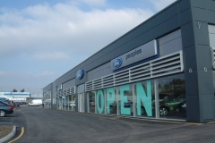 Kingspan Micro-Rib cladding at Peoples Ford, Liverpool